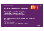 Managing the data lake: Integrating behavioural and survey data to deliver improved audience insights