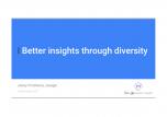 Better insights through diversity