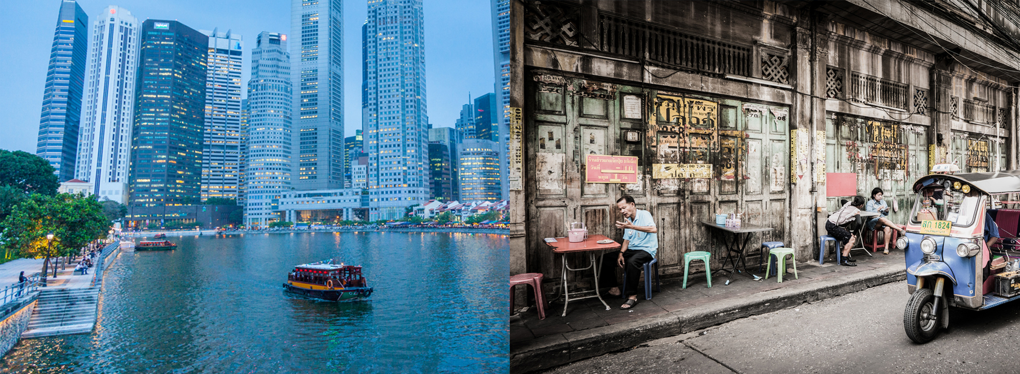 Photo of Singapore and Bangkok