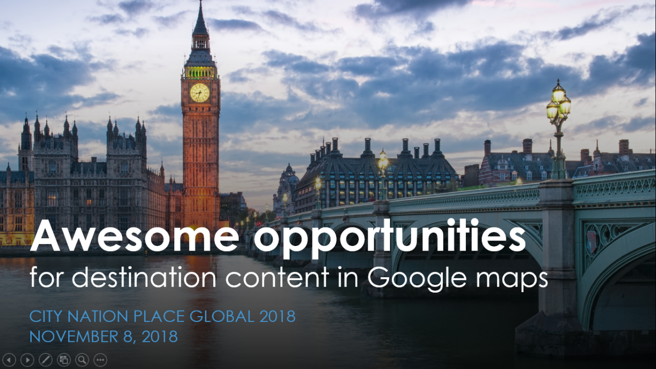 Awesome opportunities for destination content in Google maps