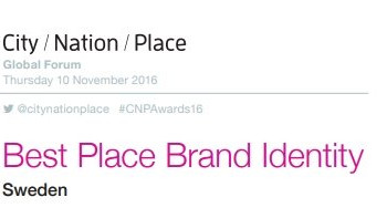 This is Sweden - Best Place Identity 2016 Award Finalist