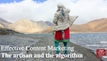 Effective Content Marketing - The artisan and the algorithm