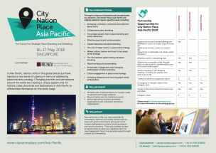 Partnership Opportunities for City Nation Place Asia Pacific 2018