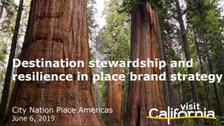 Opening Keynote: Destination stewardship and resilience in place brand strategy: leadership lessons from California