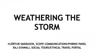 Weathering the storm: managing a place brand in a crisis, Hjortur Smarason, Phonix & Raj Gyawali, Socialtours