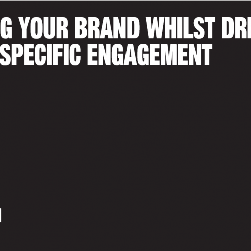 Building your brand whilst driving sector specific engagement panel