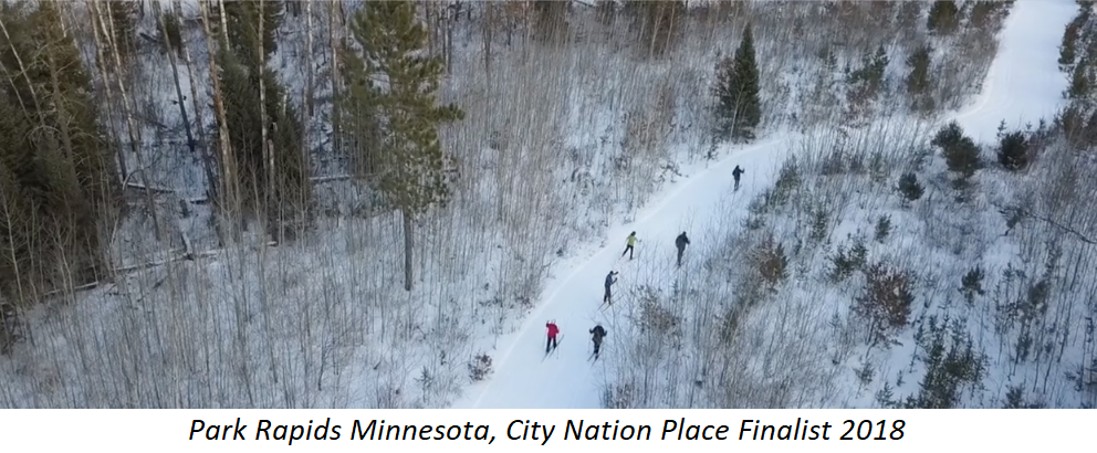 Snowy image of Park Rapids Minnesota