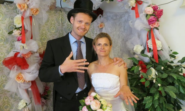"Photo of a fake arranged marriage from the Amsterdam & partners ""Marry a local for the day"" campaign"