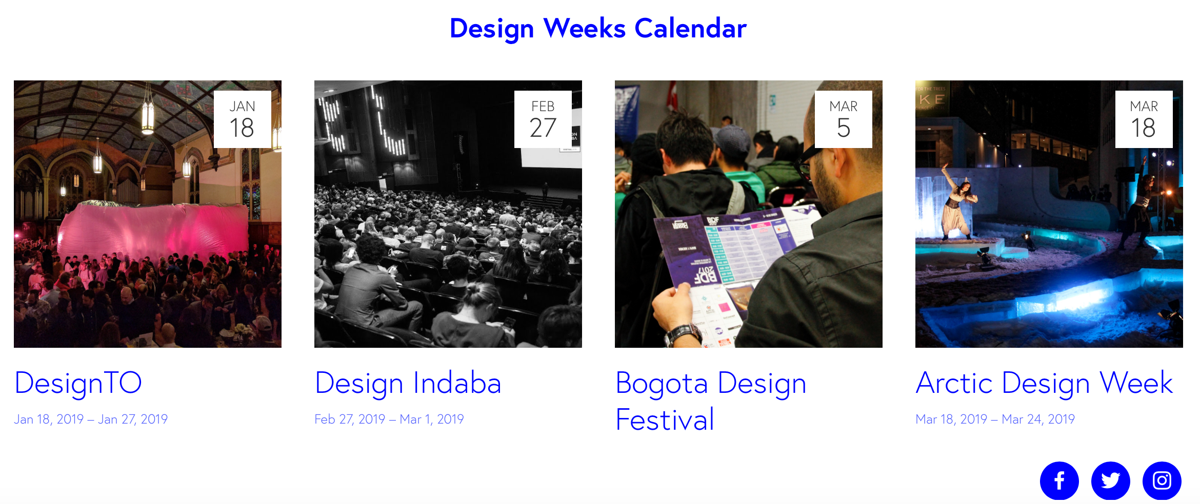 Screencapture of Design Weeks website
