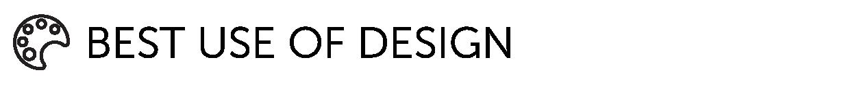 Best use of design category logo