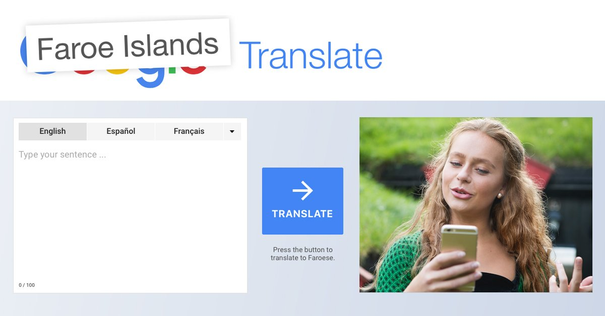 Faroe Islands request to have their language added to google translate
