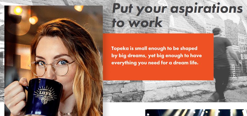 Screenshot from the Choose Topeka website