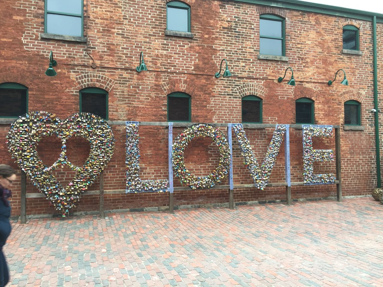 The word 'love' made out of padlocks