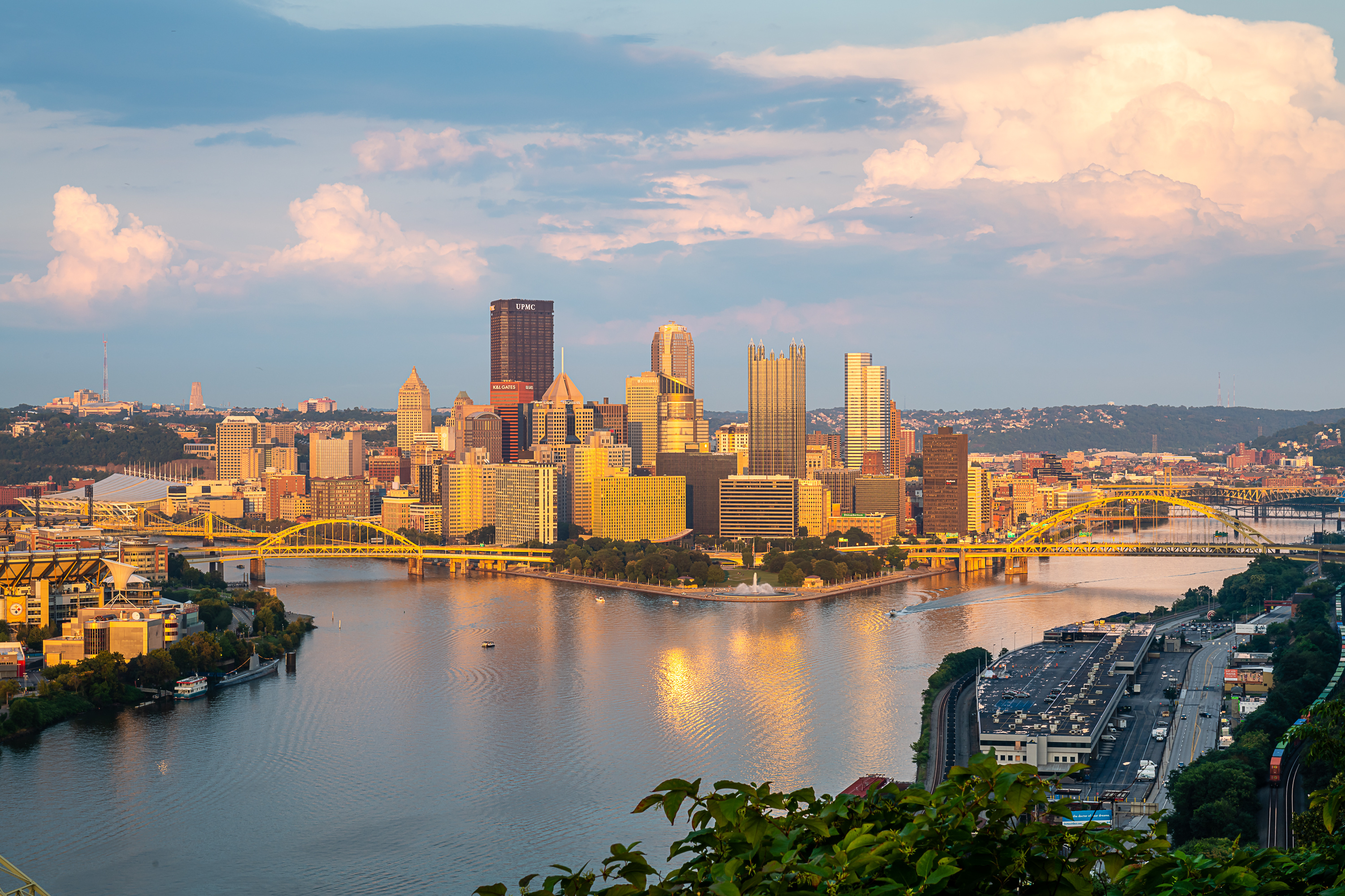 Three rivers in Pittsburgh