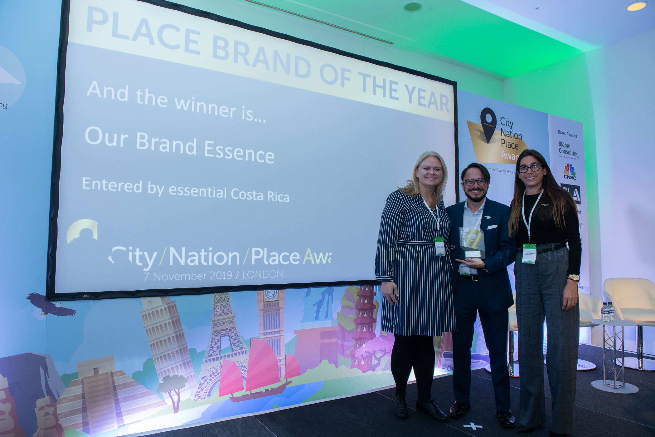 The team from essential Costa Rica celebrate winning Place Brand of the Year in 2019