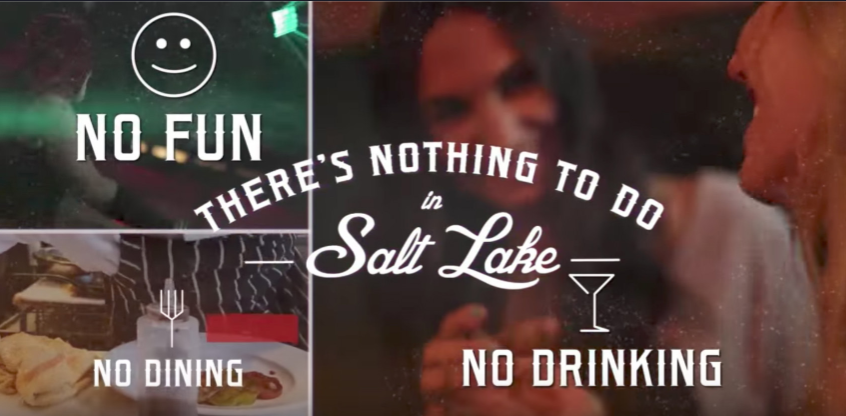There's nothing to do in Salt Lake campaign