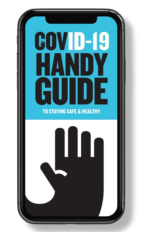 An example of Covington's COVID-19 Handy Guide app