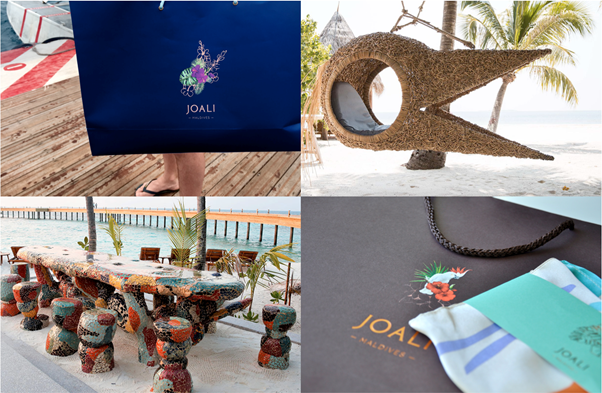 A few examples of JOALI's branding and design style.