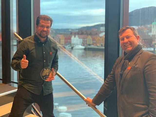 Visit Bergen's directors celebrate winning Best Use of Design