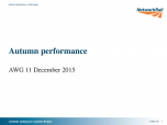 Autumn Performance – Network Rail