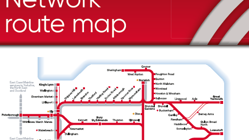 Greater Anglia Network Map