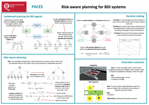Queens University Belfast – Risk-aware planning for BDI systems