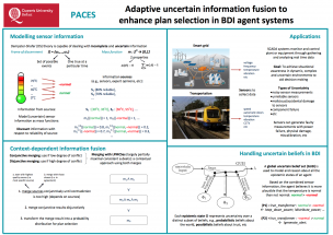 Queens University Belfast – Adaptive uncertain information fusion to enhance plan selection in BDI agent systems