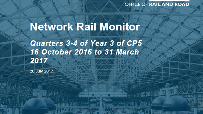 ORR's Network Rail Monitor (2016-17)