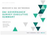 D&I Governance Survey Executive Summary