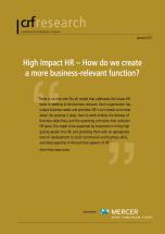 Executive Summary: High Impact HR