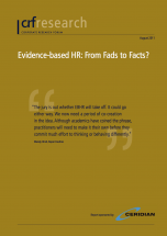 Evidence-based HR: From Fads to Facts?