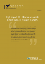 High Impact HR – How do we create a more business-relevant function?