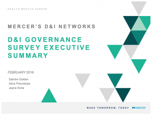 D&I Governance Survey Executive Summary