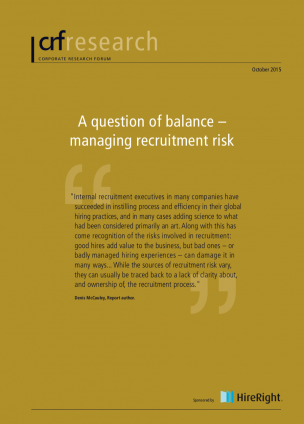 A question of balance – managing recruitment risk