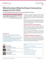 What Investors Want to Know:Coronavirus Impact on U.S. CLOs