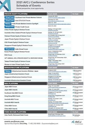 AVCJ Event Series 2020 - Download Calendar