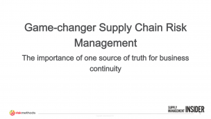 Game-changer Supply Chain Risk Management Slides