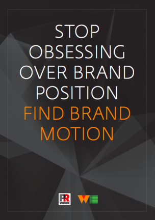 Stop obsessing over brand position - find brand motion