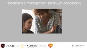 Performance management starts with onboarding - Presentation Slides