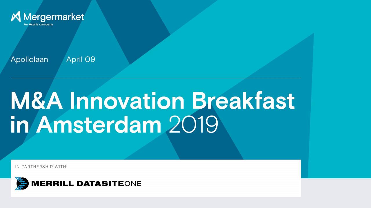 Dutch M&A Outlook –Technology as a deal driver across industries