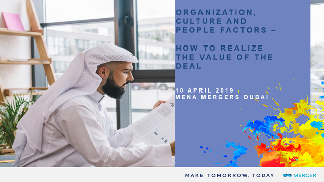 Organization, Culture and People factors - How to realize the value of the deal