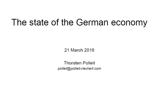 The state of the German economy