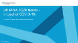 UK M&A 1Q20 trends - impact of COVID-19