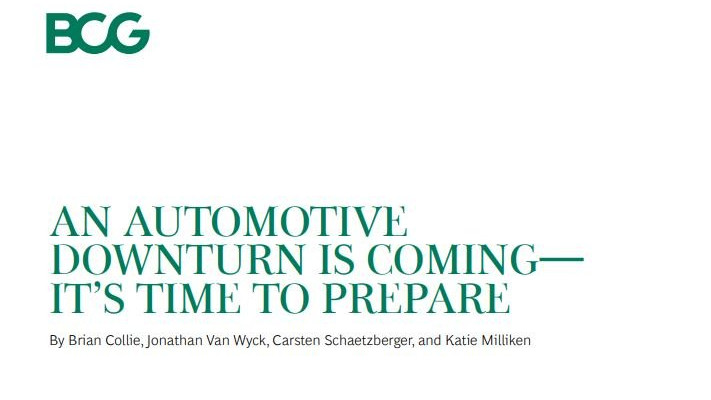 An automotive downturn is coming - it's time to prepare