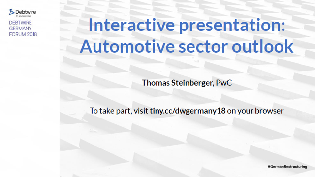 Interactive presentation: Automotive sector outlook