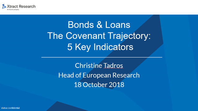 Bonds & Loans The Covenant Trajectory: 5 Key Indicators