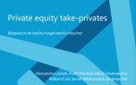 Private equity take-privates